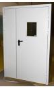 двери противопожарные двупольные с остеклением дпмо 02х60